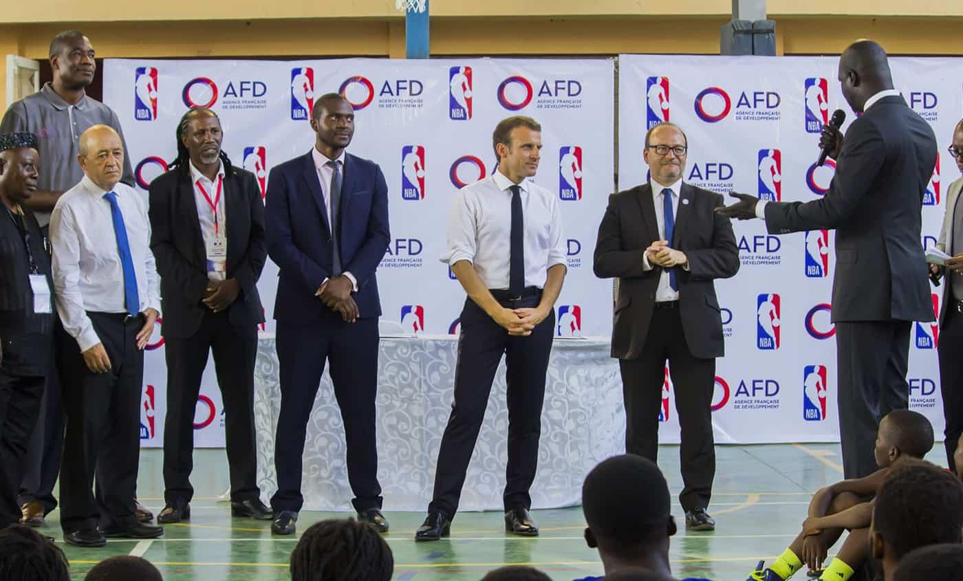 Remy Rioux AFD NBA Emmanuel Macron