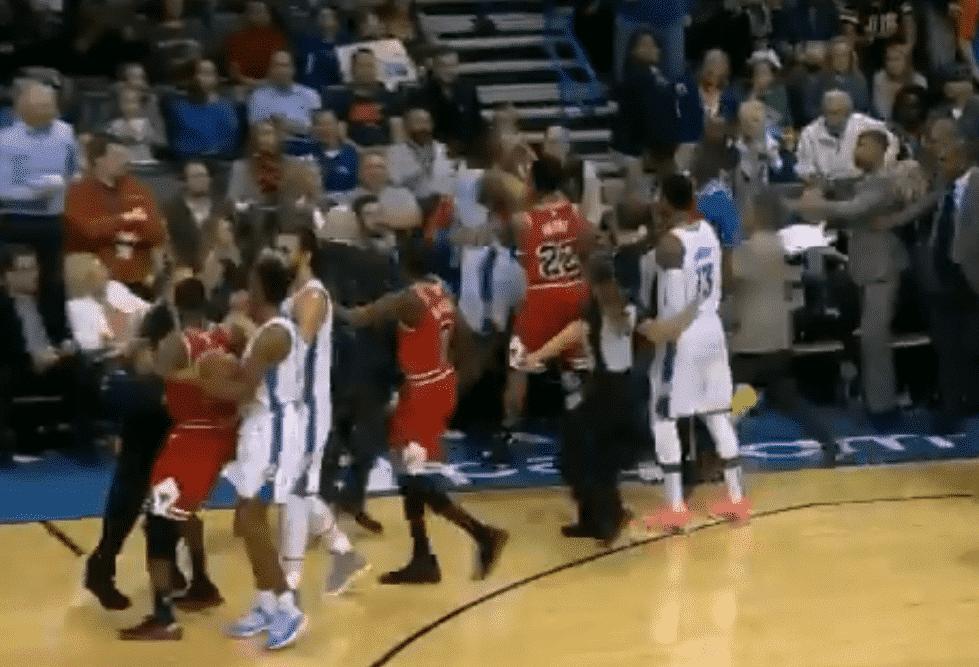 Débuts d'échauffourée entre les Bulls et le Thunder