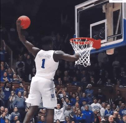 Zion claque un dunk complètement fou