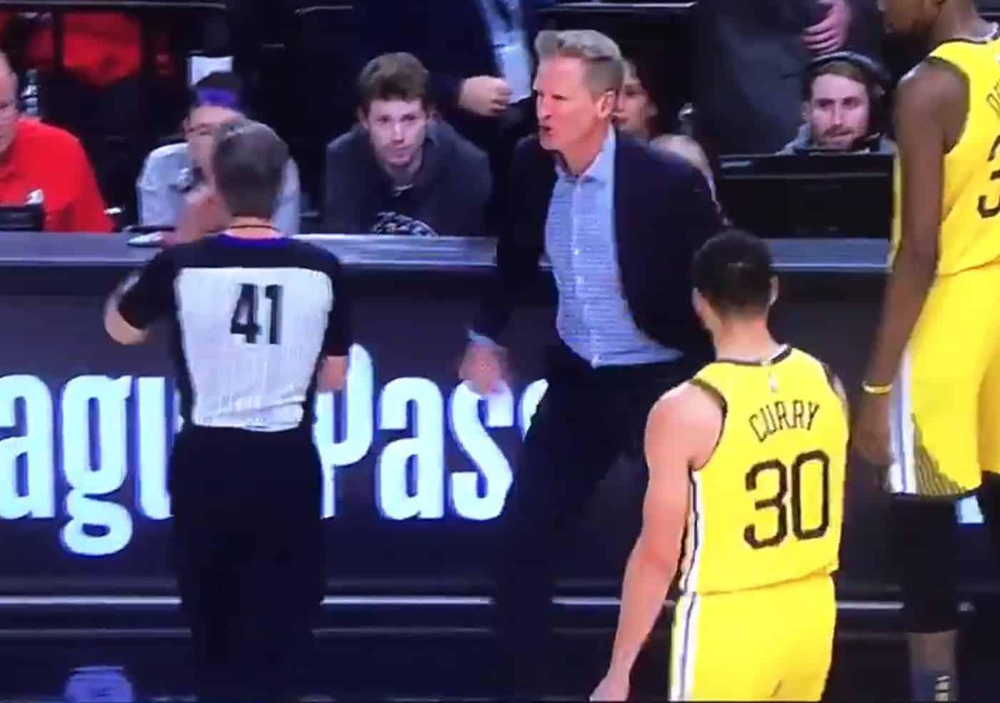 Quand Steve Kerr pète un plomb, il ne fait pas semblant