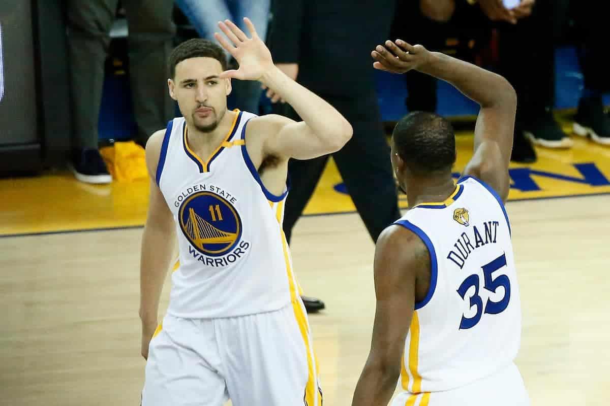 Les Warriors vont parler futur avec Thompson et Durant