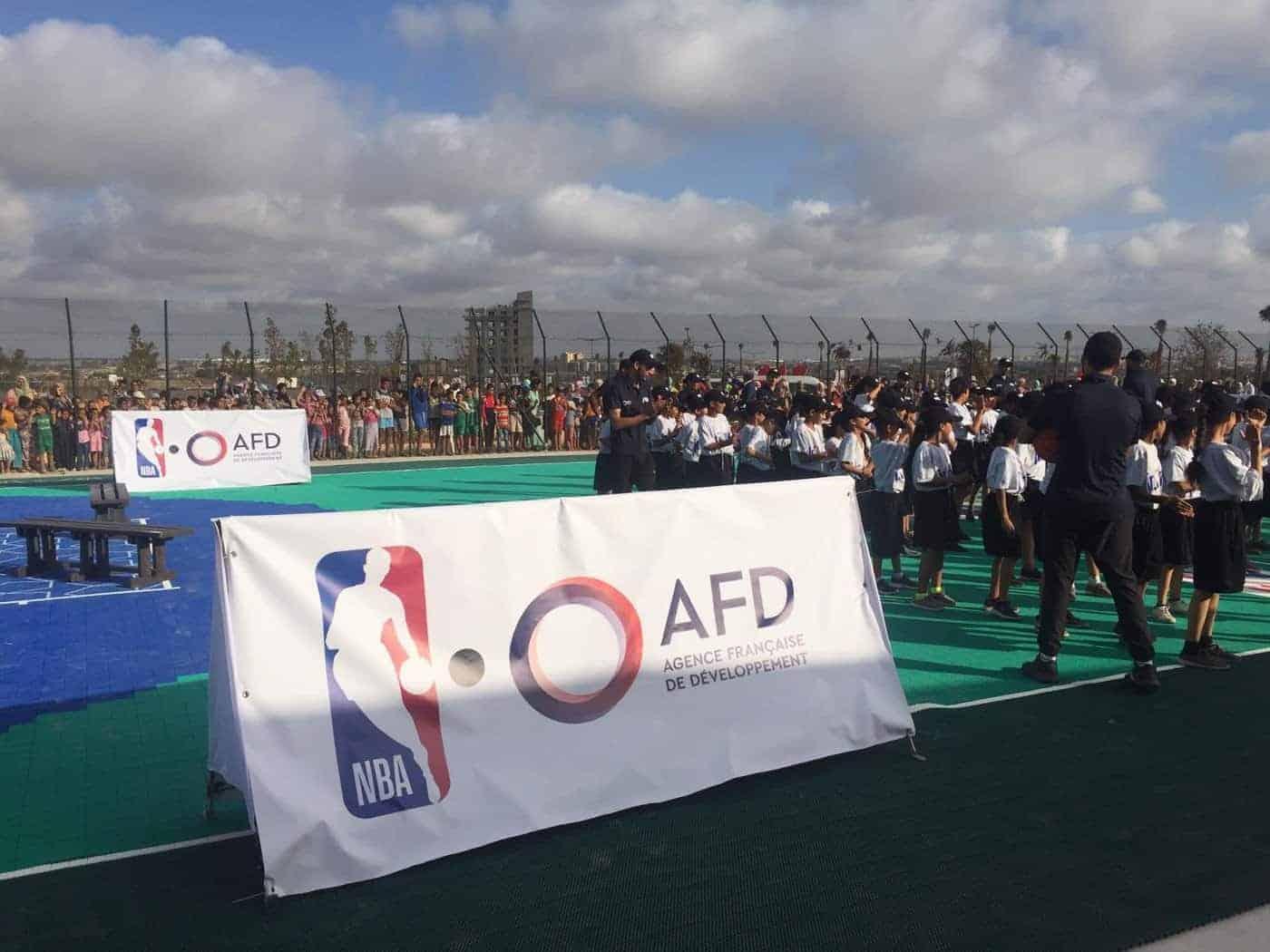 La NBA et l'AFD ont inauguré un terrain au Maroc