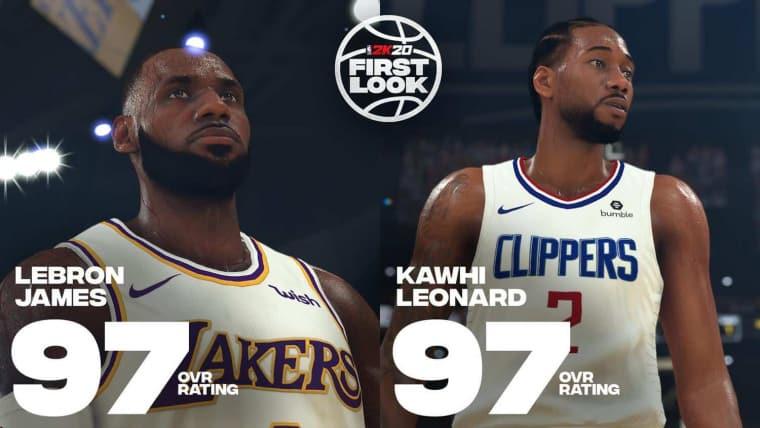Notes NBA 2K20 : LeBron et Kawhi au sommet, Gobert boosté