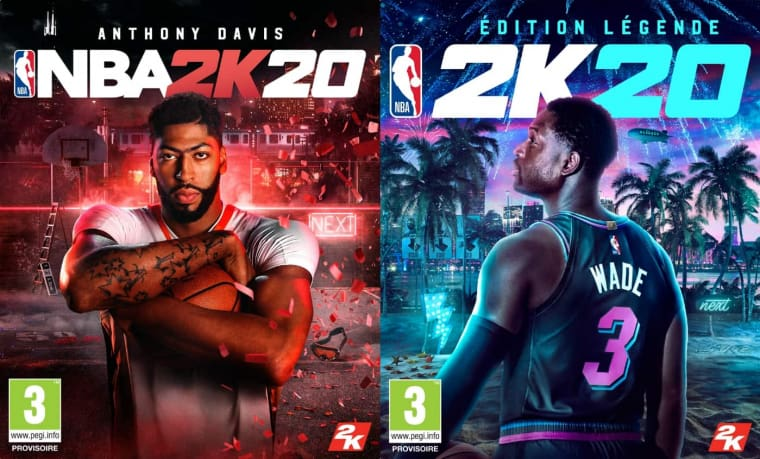 Anthony Davis et Dwyane Wade en cover de NBA2K20