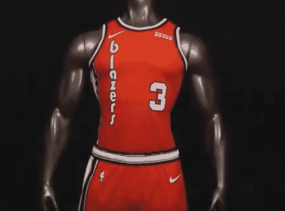 Un nouveau maillot rétro pour les Blazers cette saison
