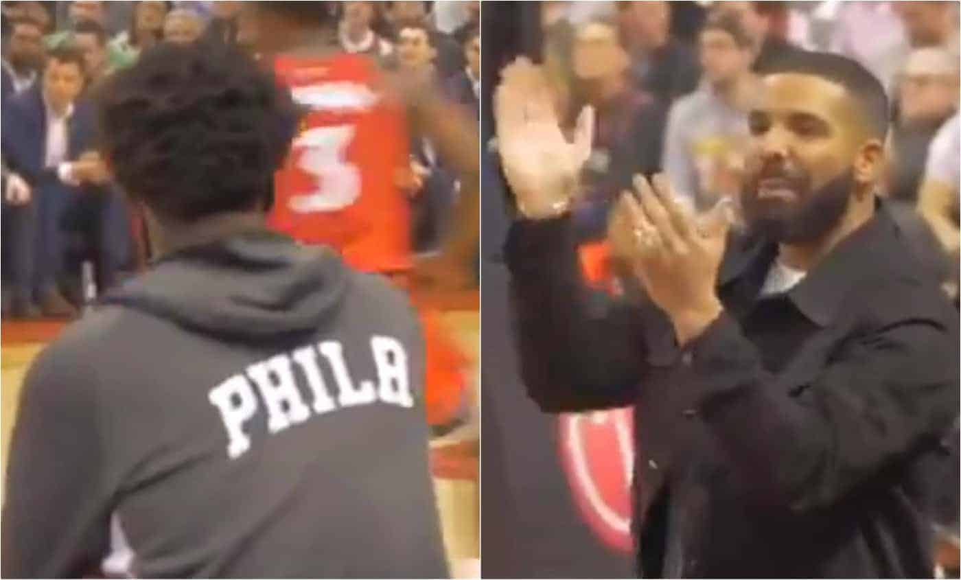 Drake trolle méchamment Joel Embiid en plein match