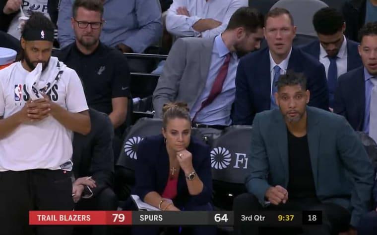 Tim Duncan a remplacé Gregg Popovich sur le banc !