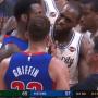 C'était tendu entre les Pistons et les Bucks hier soir!