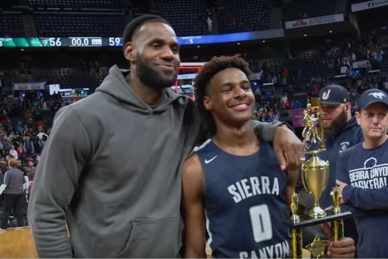 LeBron James déchaîné pour le match de son fils, MVP et vainqueur