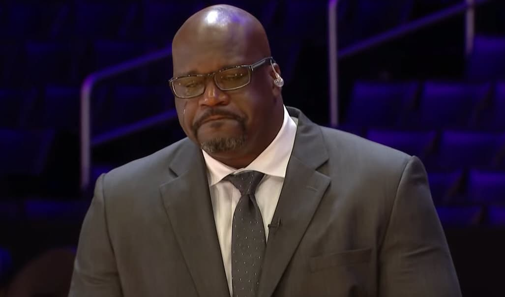 Shaq pleure Kobe dans un hommage déchirant