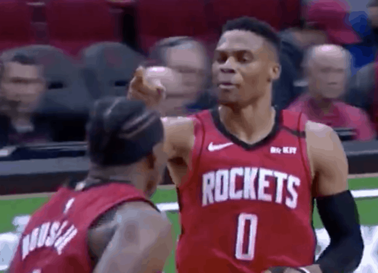 Russell Westbrook fait son « rock the baby » à Rudy Gobert