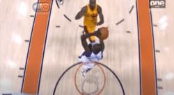 Ce block montre à quel point LeBron James est un athlète incroyable