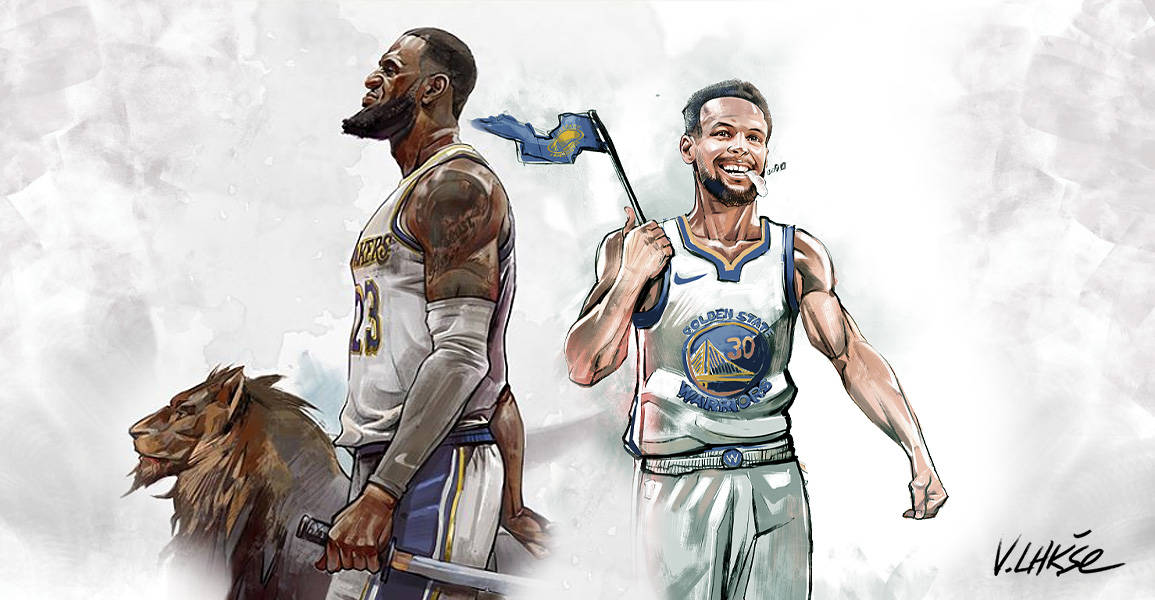NBA APOCALYPSE LeBron James Stephen Curry