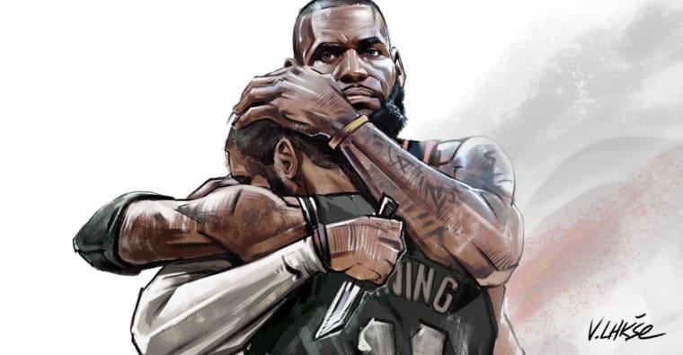 Gros duel entre LeBron James et Kyrie Irving dans NBA APOCALYPSE !