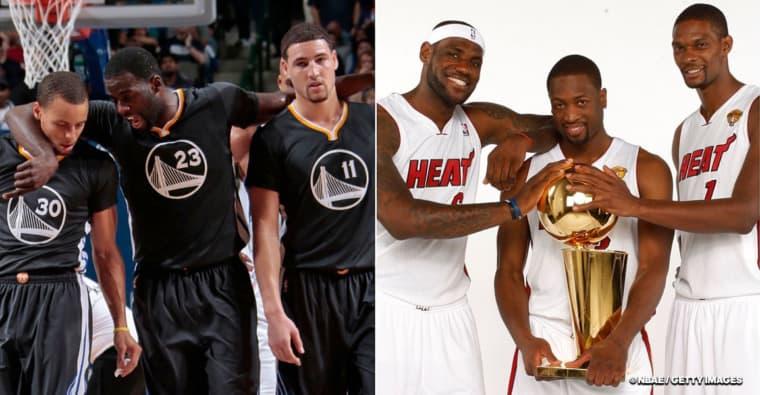 Dwyane Wade avoue à Steph Curry qu'il aurait aimé défier le Big Three des Warriors avec celui du Heat
