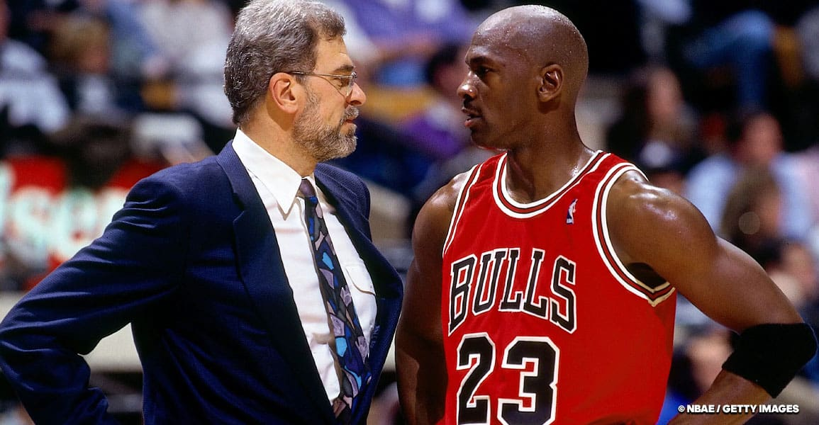 Michael jordan et Phil Jackson - The LAST DANCE