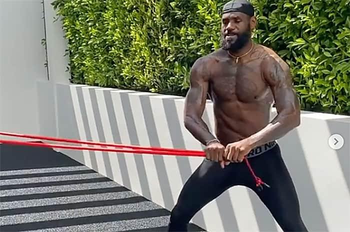 LeBron James dévoile son entrainement spécial quarantaine