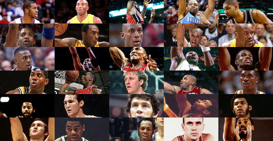Quelle est la meilleure All-NBA First Team de l'Histoire ? 1962, 1972, 1988, 1996, 2003 ou 2013 ?