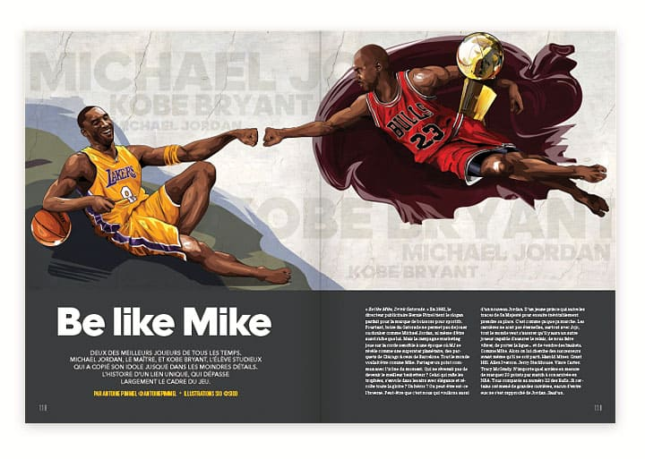 Mook REVERSE #5 Kobe Bryant Michael Jordan