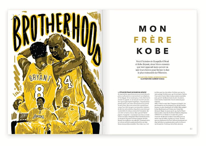 Mook REVERSE #5 Kobe Bryant Shaquille O'Neal