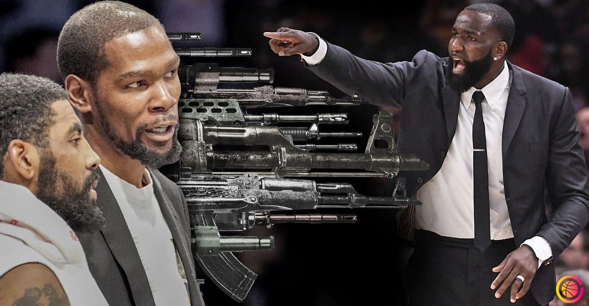 Kyrie Irving défoncé par Perkins, Kevin Durant vient à sa rescousse