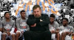 Un fan des Knicks éjecté de la salle, change rien James Dolan…