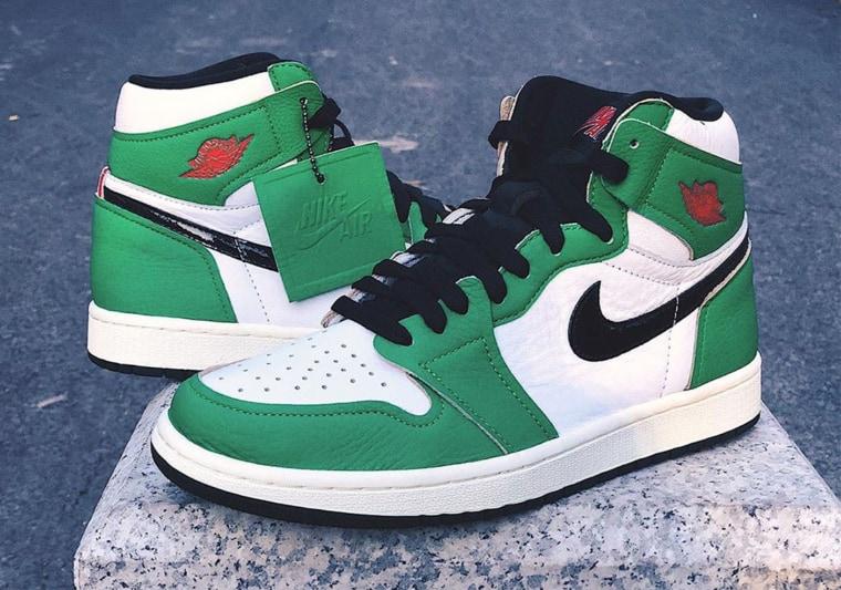 Les premières images de la Air Jordan 1 Lucky Green