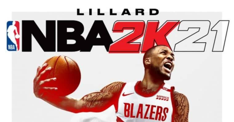 Damian Lillard en couverture de NBA2K21