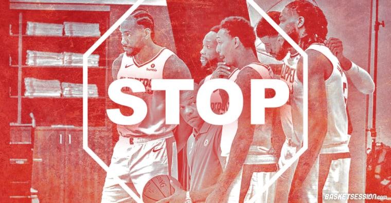 Cas de Covid-19 au sein de l'équipe : Les Clippers arrêtent tout
