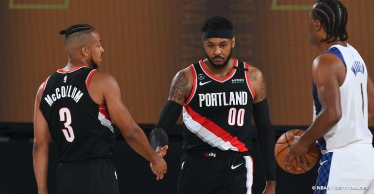 Une autre équipe surveille Carmelo Anthony de près