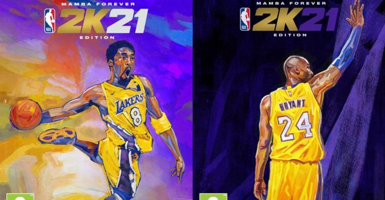 Kobe mis à l'honneur dans NBA2K21 avec deux covers sublimes
