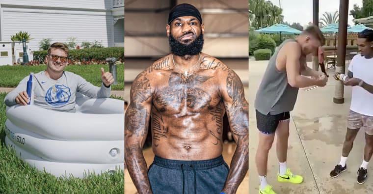 Dans la bulle NBA : concours de bières cul sec, Simmons imite Harden, Skinny Melo est chaud