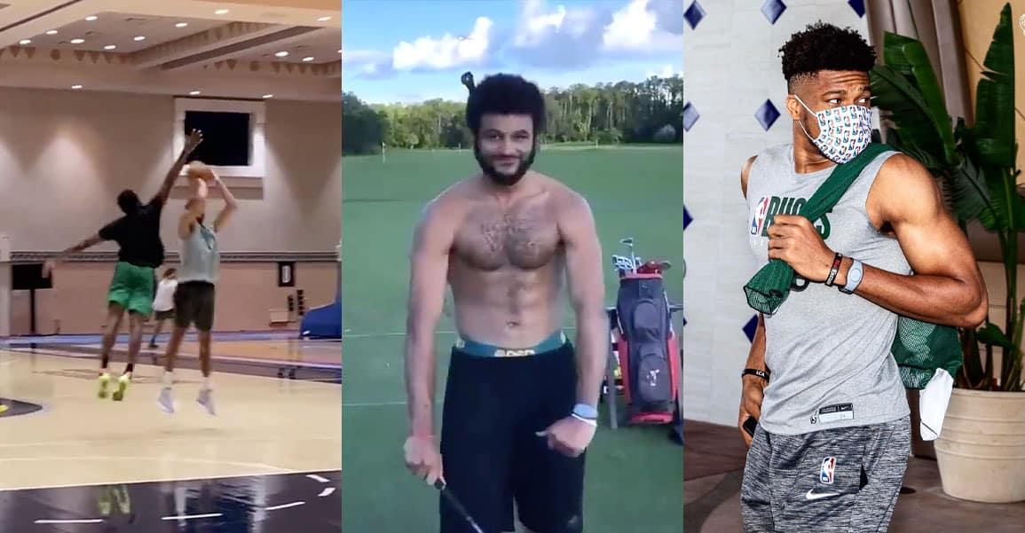 Dans la bulle NBA : golf, pêche, jeux chelous… mais aussi gros 1×1 Tatum vs Jaylen et tomars pour Ja et Russ