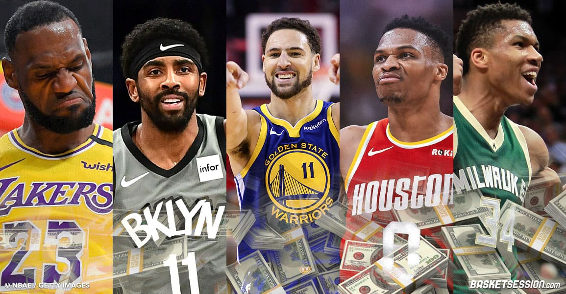 Les 10 joueurs NBA qui gagnent le plus d'argent en 2020