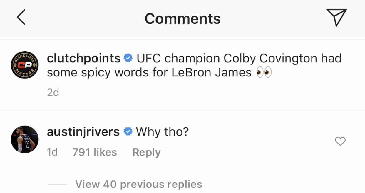 Kevin Durant, Austin Rivers et Michael Carter-Williams, Colby Covington