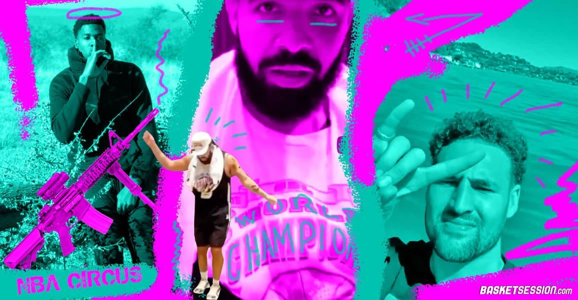 NBA CIRCUS : Drake est ridicule, Whiteside se fait voler un gun à 50 000$, Klay est magique