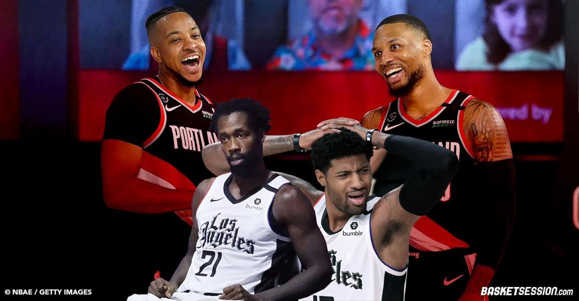 Lillard et McCollum taillent sauvagement l'élimination des Clippers sur Twitter et c'est assez drôle