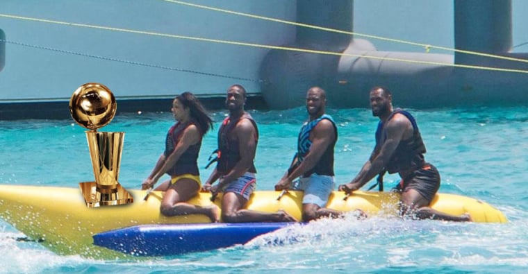 Le Banana Boat félicite LeBron