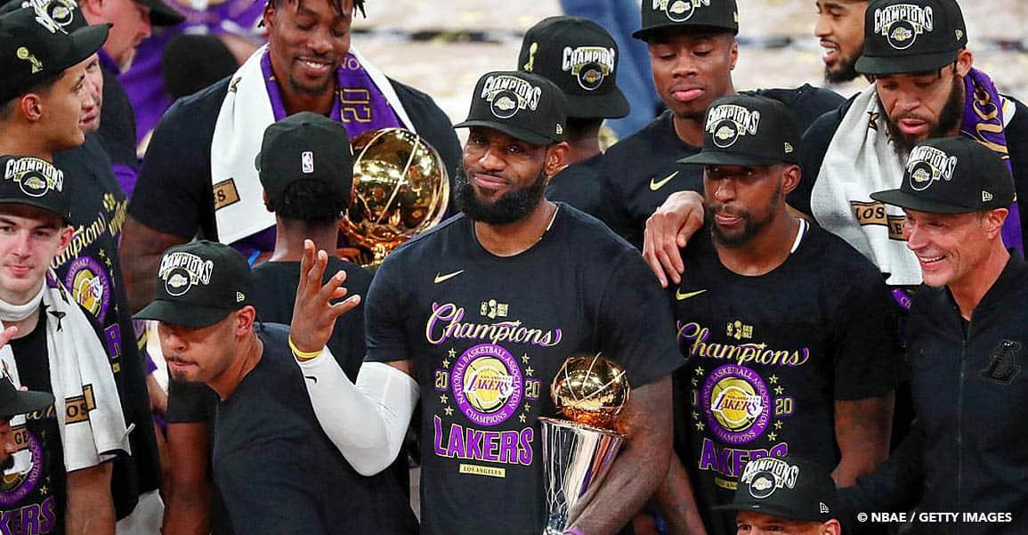 Les Lakers sacrés champions NBA, LeBron James élu MVP des finales !