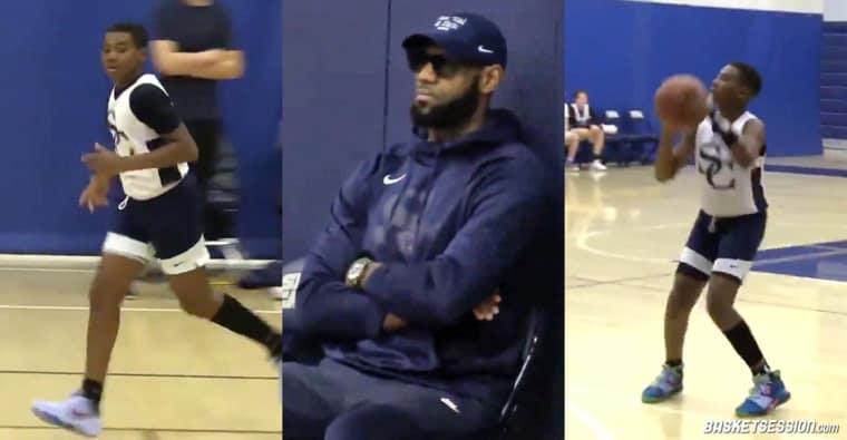 Le plus jeune fils de LeBron James est un crack, la preuve en images