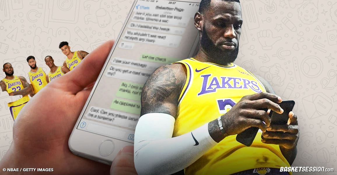 Les vraies conversations Whatsapp des Lakers avant le Game 4