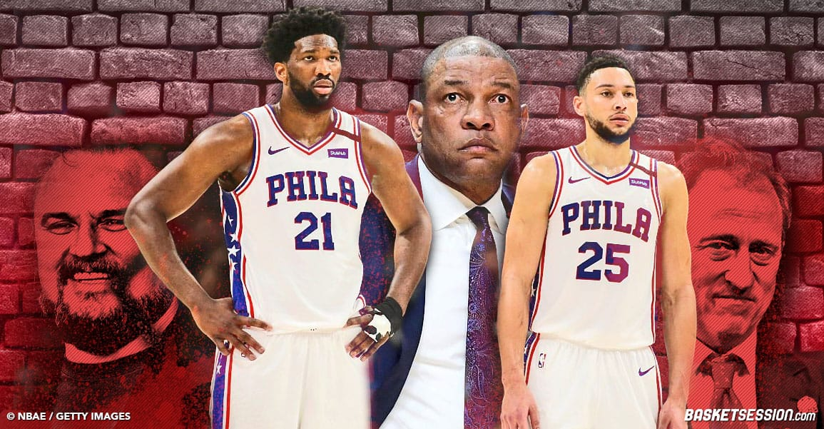 NBA SIXERS RIVERS EMBIID SIMMONS MOREY