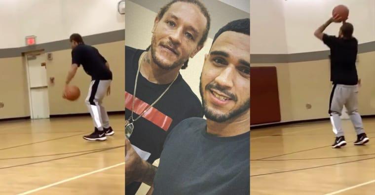 La belle image du jour : Delonte West de retour sur un parquet de basketball