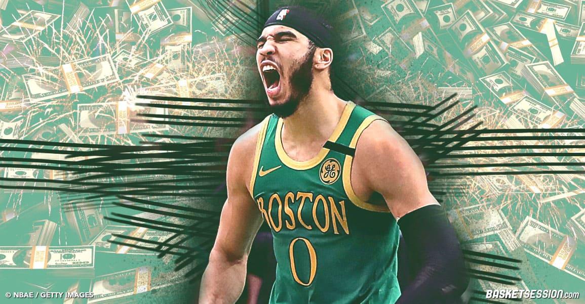 Jayson Tatum prolonge aux Boston Celtics et touche le pactole