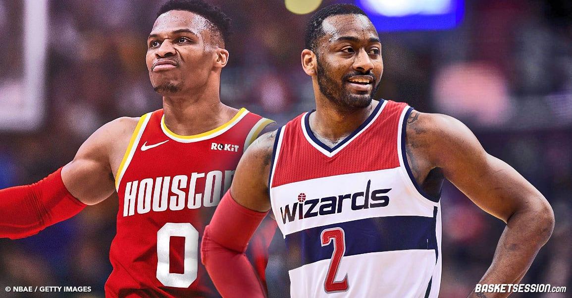 Russell Westbrook envoyé par les Rockets aux Wizards contre John Wall !