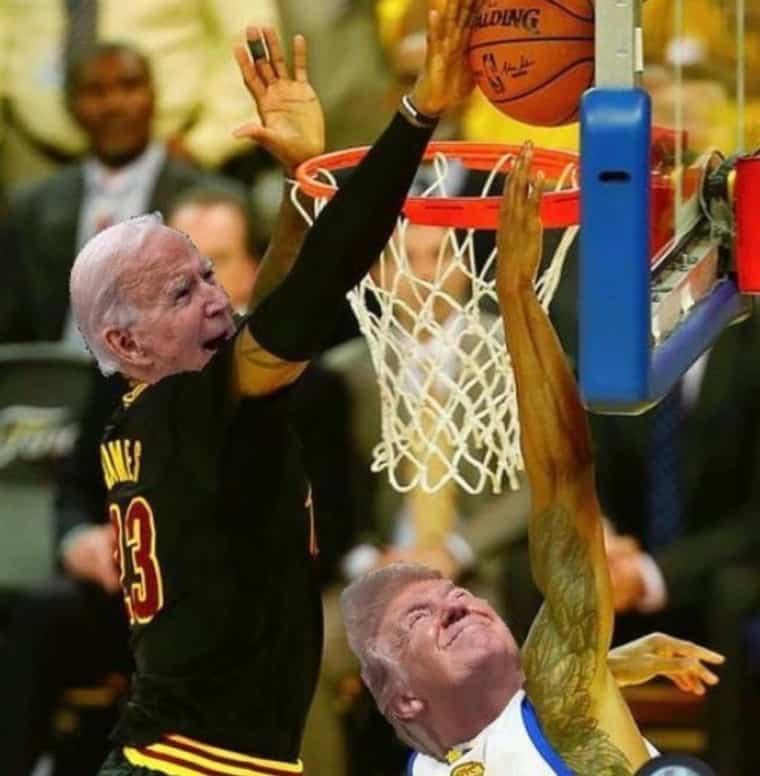 LeBron et les joueurs NBA célèbrent la défaite de Donald Trump