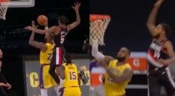 Derrick Jones Jr bloque et chambre LeBron James, «un grand acteur»