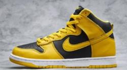 La Nike Dunk High vous emmène du côté de l'Ohio avec son coloris Varsity Maize