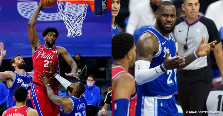 LeBron James aurait-il dû être expulsé pour son vilain geste sur Joel Embiid ?