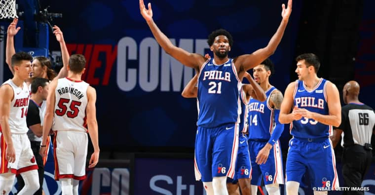 Les Sixers, top team in the east